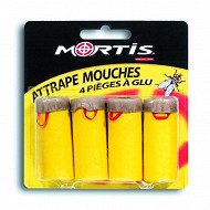 Mortis attrapes mouches bandes collantes lot de 4