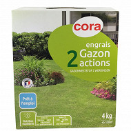 Cora engrais gazon 2 en 1 - 4 kg