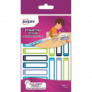 Avery 30 mini étiquettes résistantes 50 x 10 mm
