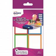 Avery-16 étiquettes résistantes 44x64mm