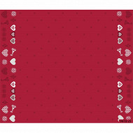 Nappe polyester rect 150x300cm coeur