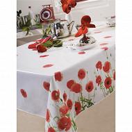 Toile cirée red poppy 140x250cm