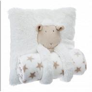 Coussin avec plaid mouton
