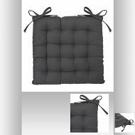 Galette chaise gris foncé 38x38cm