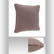 Coussin taupe 45x45cm passepoil