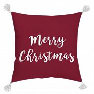 "Coussin ""merry christmas"" 40x40cm"