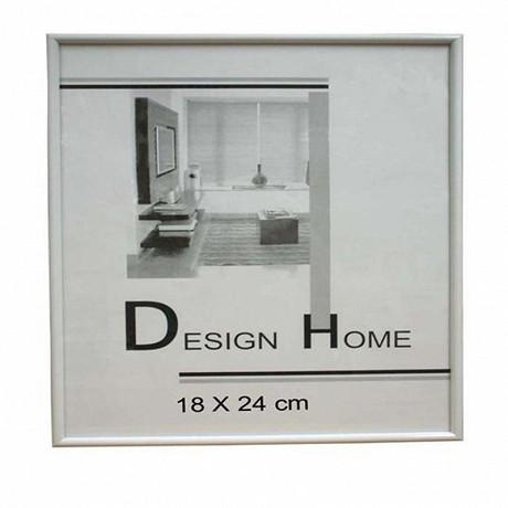 Cadre 18x24 cm baguette plastique blanche