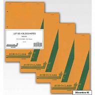 4 blocs notes Succes A4+ 160 pages 5x5 perforées