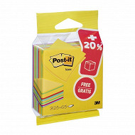 Cube de notes post it ultra yellow 325 f 76x76mm 20%oft soit 390 feuil