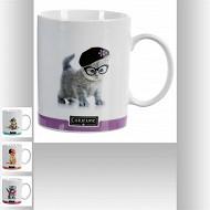 Mug décor chat 35 cl