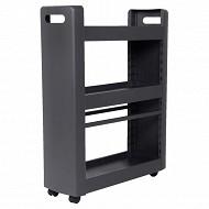 Désserte mobilo 3 étagères modulaires avec roulettes