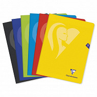 Clairefontaine 5 cahiers couleurs assorties  24X32 seyes 48 pages 90g