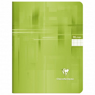 Clairefontaine cahier piqure seyes vert clair 17x22cm 96 pages