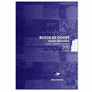 Clairefontaine bloc cours 21x29.7 cm 200 pages seyes 90 grammes