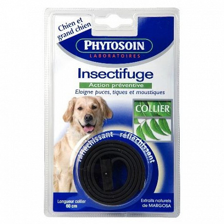 Phytosoins - Collier insectifuge réfléchissant chien