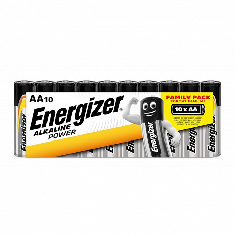 Energizer 10 piles alcalines AA (LR06) family pack