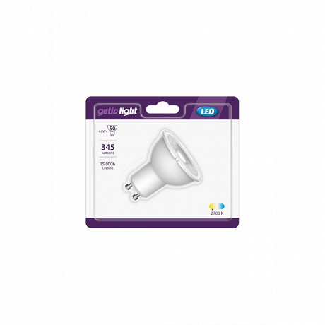 Getic spot LED reflecteur GU10 equivalent 50W 2700K