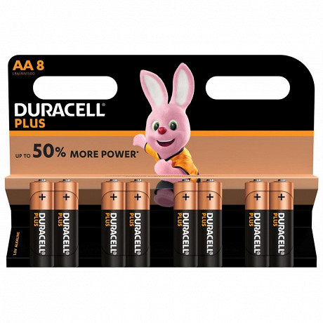 Duracell plus power AA x 8