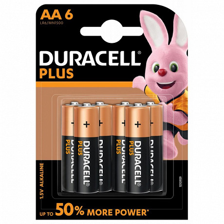 Duracell 6 piles alcalines AA (LR06) plus power