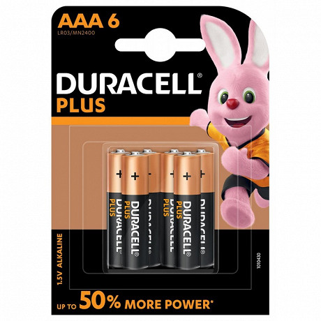 Duracell 6 piles alcalines AAA (LR03) plus power