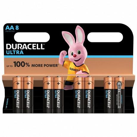 Duracell ultra power AA x 8