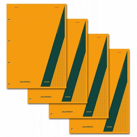 """4 blocs notes """"Succes"""" A4+ 160 pages seyes perforées"""