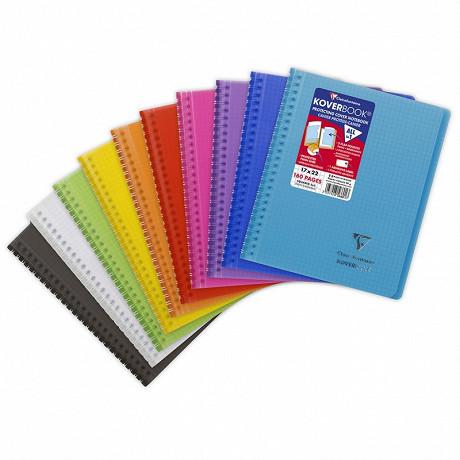 Koverbook reliure integrale enveloppante 17X22 160 pages 5X5 9 couleurs assorties