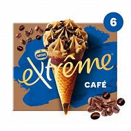 Extrême cônes café sauce au café et pépites  6x71g