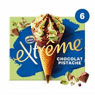 Extrême cônes chocolat pistache 6x71g