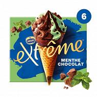 Extrême cônes menthe chocolat pépites de chocolat 6x71g
