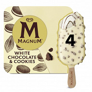 Magnum batonnets de glace white chocolate cookie - 296g
