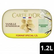 Carte d'or bac grème glacée vanille de madagascar 1200ml - 629g