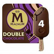 Magnum batonnets double chocolat x4 - 352ml -  276 g