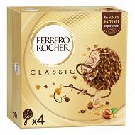 Ferrero rocher glace noisette et chocolat au lait x4 - 200g
