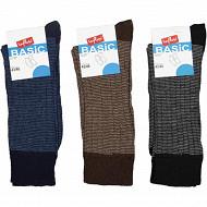 Lot de 3 paires de mi-chaussettes travail NOIR/MARINE/MARRON T43/46