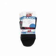 Lot de 5 paires de socquettes fantaisies influx basic COCCINELLE + POIS NOIR/GRIS 37\41