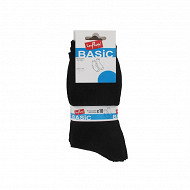 Lot de 10 paires de mi-chaussettes unies/chinées/moulinées Influx NOIR/MARINE T43/46
