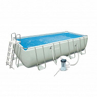 Kit piscine tubulaire prism rectangulaire 4 x2 x1 m