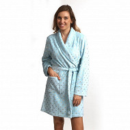 Robe de chambre coral fleece court femme ECRU T34\36