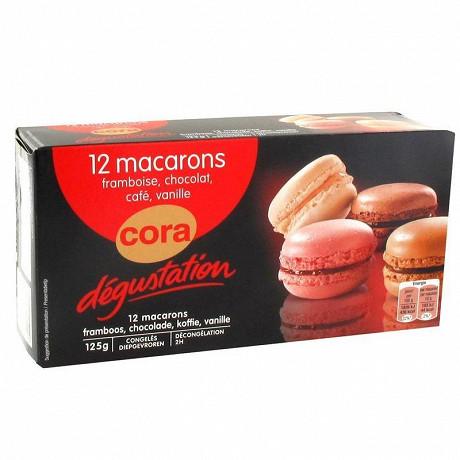 Cora dégustation assortiment de 12 macarons 125g