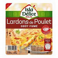 Isla Délice lardon poulet gout fumé 2x100g