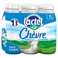 Lactel lait de chèvre demi-écrémé 6 x 1L