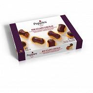 Poppies 12 minis éclairs pâtissiers chocolat 200g