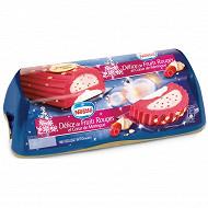 Nestlé bûche glacée délice de fruits rouges et coeur de meringue 1l  540g