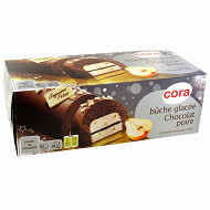 Cora buche glacée poire chocolat 1l 8 parts  572g