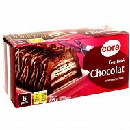 Cora dessert feuilleté glacé chocolat 650ml - 361g