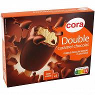 Cora bâtonnet double vanille/caramel 4x110ml 393g