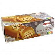 Cora bûche glacée vanille créme brulée 1l 8 parts - 540g