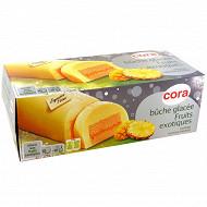 Cora bûche glacée fruits exotiques aux morceaux d'ananas 1l - 561g