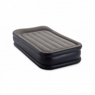 Lit gonfable deluxe rest bed 1 place elec fiber tech